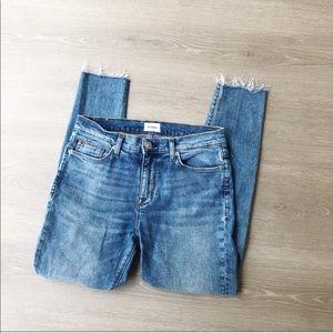 Hudson Natalie Super Skinny Raw Hem Jean